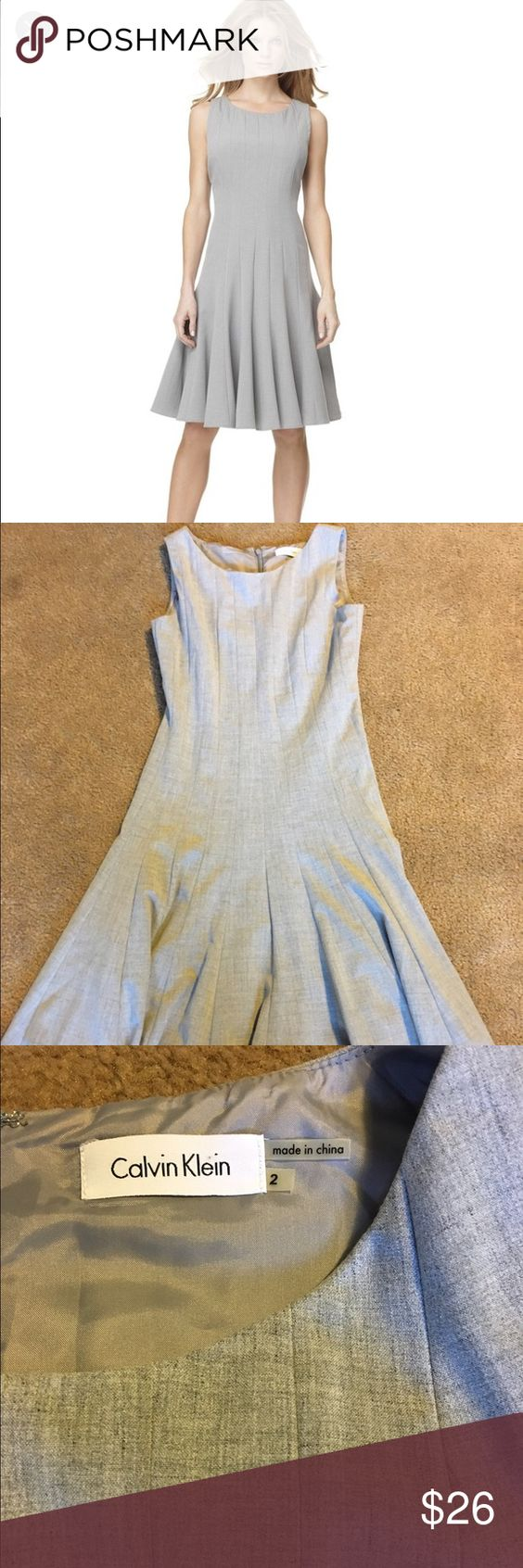 Barely worn Calvin Klein dress Great work or party dress with full skirt. Also looks cute belted. Super flattering! Calvin Klein Dresses