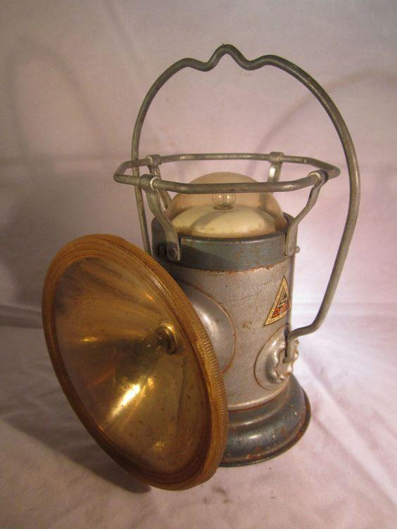 Delta 3 Light Bathroom Vanity Light: Vintage Delta Powerlite Lantern Lamp Light