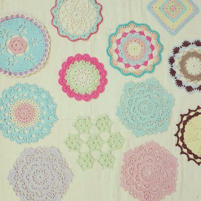 ByHaafner, crochet, doily, pastel, Japanese crochet patterns