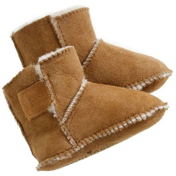 J.Crew baby Minnetonka® shearling booties (€27) ❤ liked on Polyvore featuring baby shoes and baby girl
