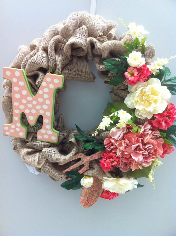 Mother's Day burlap wreath store 4930