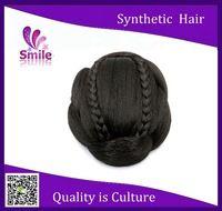 Hot Selling Wedding Hairdo Virgin Synthetic Clip In On Hair Buns Women Hair Accessories Bun Wraps