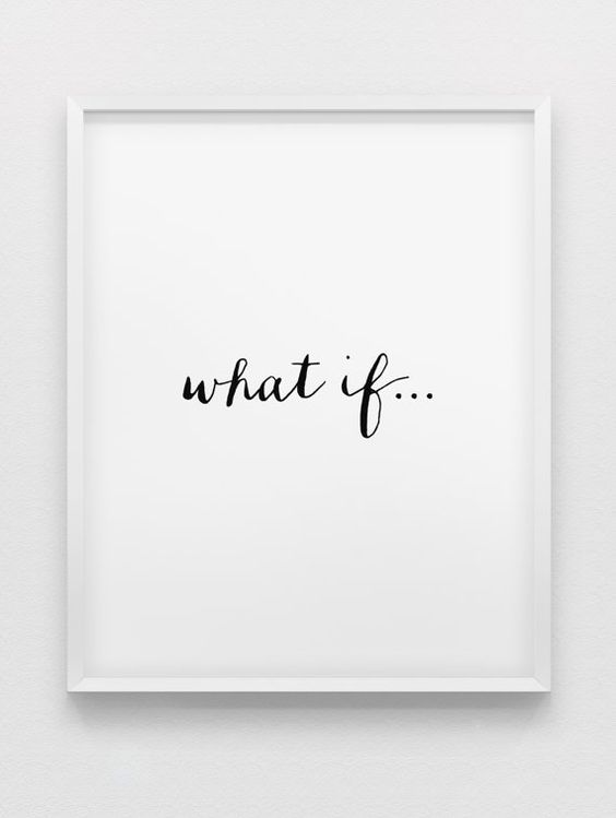what if... print // minimalistic print // inspirational print // black and white typographic home decor // minimalistic poster on Etsy, $13.46 CAD: