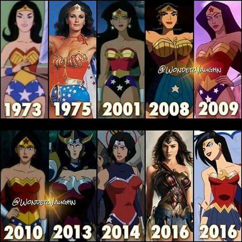 Evolution Of Wonder Woman Wonder Woman Comic Wonder Woman Art Wonder Woman