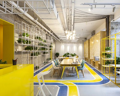 MAT office creates flexible coworking space in beijing
