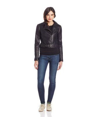 BB Dakota Women's Eliza Zip Off Sleeve Jacket, Black