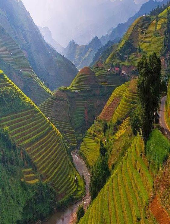 Les destinations les plus spectaculaires du monde - Mu Cang Chai Vietnam
