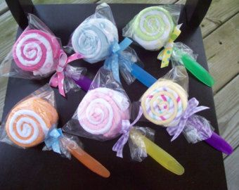 Double Washcloth Lollipop- Baby Shower Gift