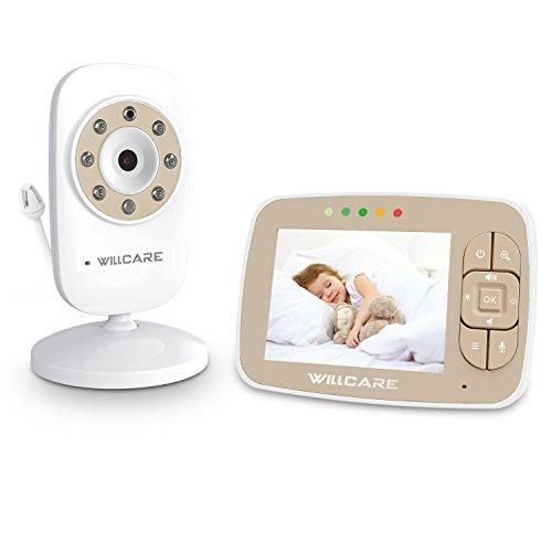 "5/"" WiFi Wireless Baby Monitor Zoomable Night Vision Color Camera w// Temp Sensor"