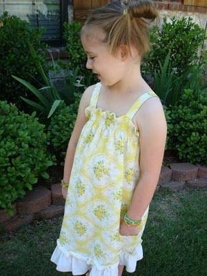 Great pillow case dress.  Cute, fast and I love the easy smocking look.