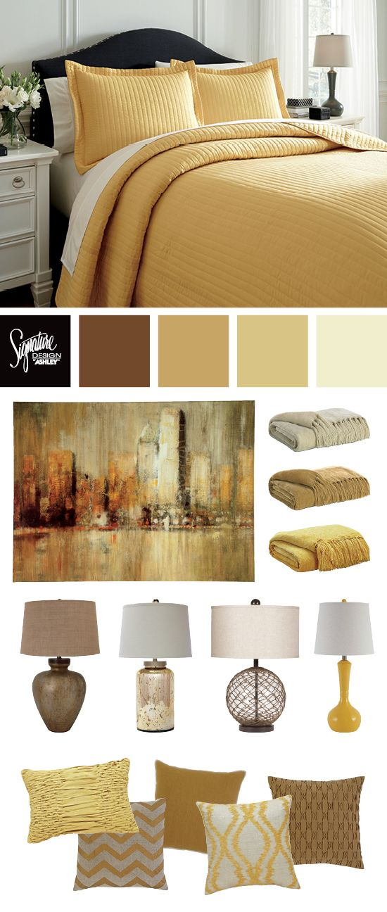 Yellow and Gold Bedroom Colors Bedroom Furniture
