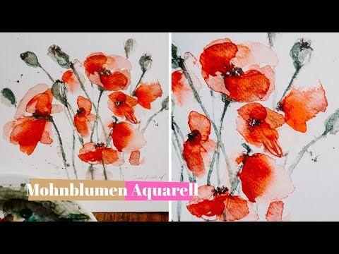 Watercolor Tutorial I Mohnblumen Aquarellieren So Funktionierts Youtube Mohnblume Aquarellanleitungen Blumen Malen