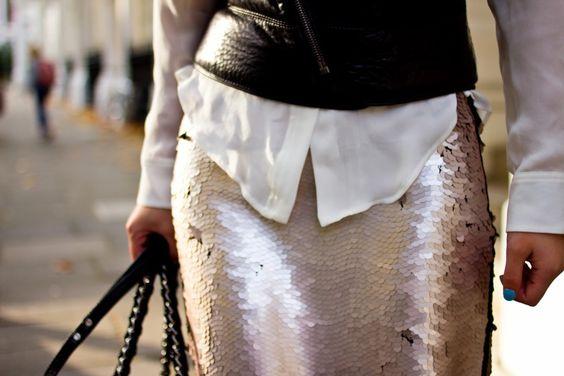 zara sequin skirt