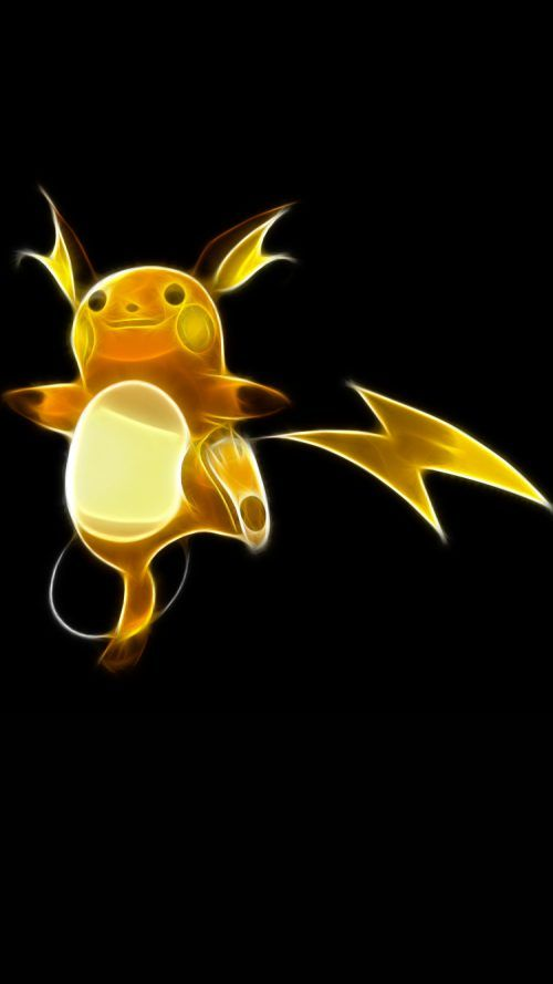Raichu Pokemon On Iphone 7 Wallpaper In Dark Background Pokemon
