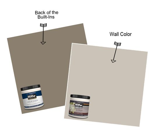 Mocha accent by behr for the back of the built ins and for Soft mocha paint color