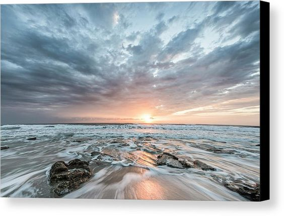 Art Canvas Print featuring the photograph Augustine Sunrise by Jon Glaser