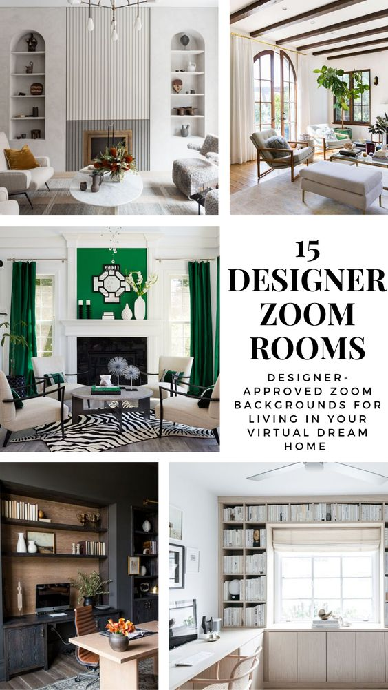 These Designer Approved Zoom Backgrounds Are Like An Instant Makeover For Your Home Office In 2020 Small Office Decor Home Office Decor Office Interior Design