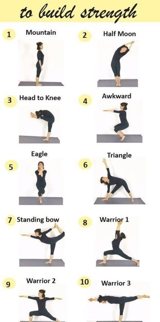 Add These 10 Yoga Poses To Your Daily Routine To Build Strength Improve Balance Yoga Poses Standing Yoga Poses Yoga Poses For Beginners
