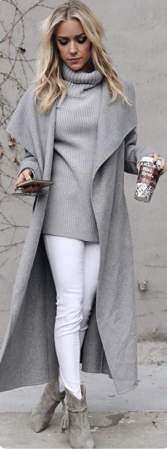 Grey Trench Coat for winter