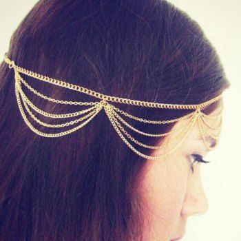 $2.79 Charming Multi Tassel Alloy Headband For Women