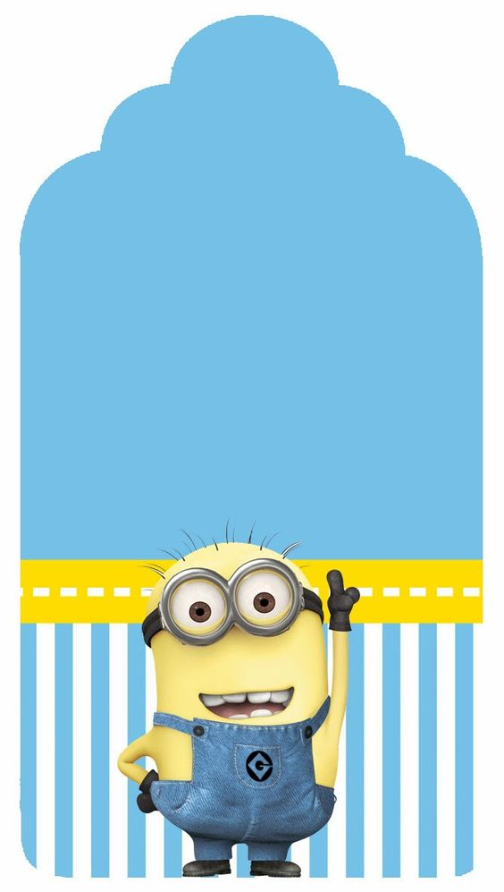 Despicable Me Free Printable Candy Bar Labels