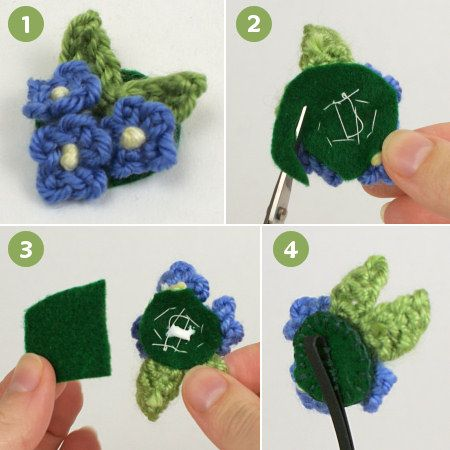 June Gilbank ? Crocheted Embellishments Tutorial Crochet Hair Clips ...