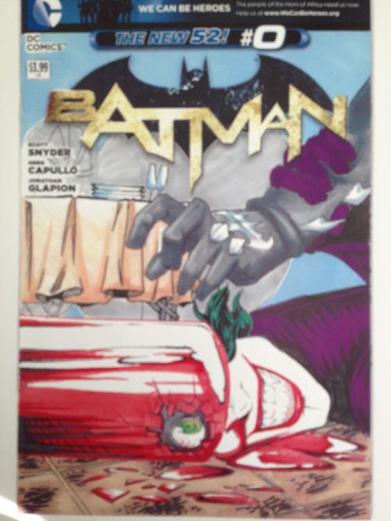 Batman cover that is hand drawn, inked and colored by the multi talented Mary Shannon.