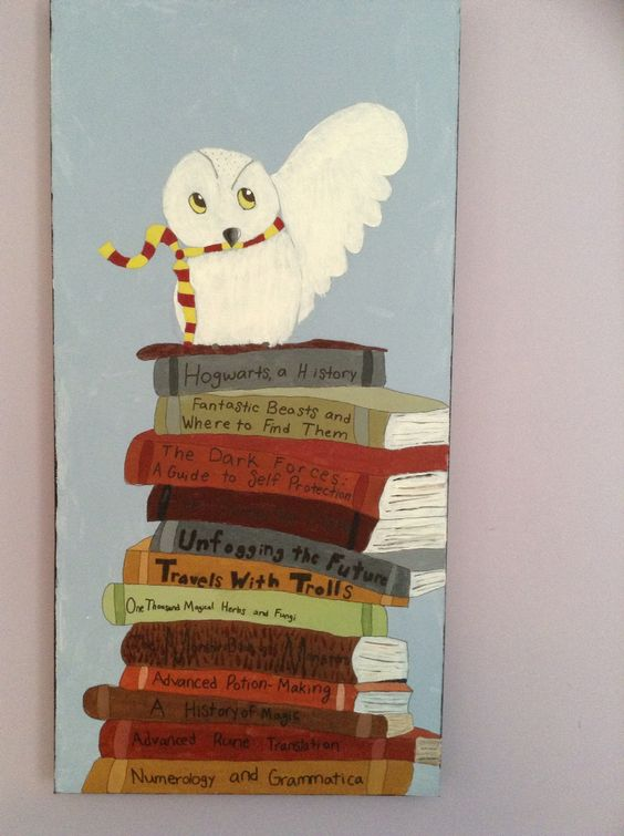 Artwork... This is a painting of Hedwig from Harry Potter I made.