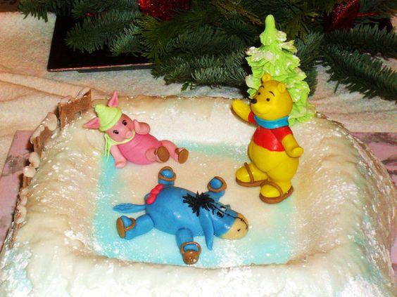 Winnie Puh beim Eislauf
