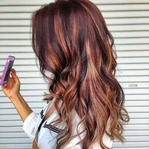 Copper And Caramel Highlights On Red Brown Hair Hair Styles Hair Color Auburn Brown Blonde Hair