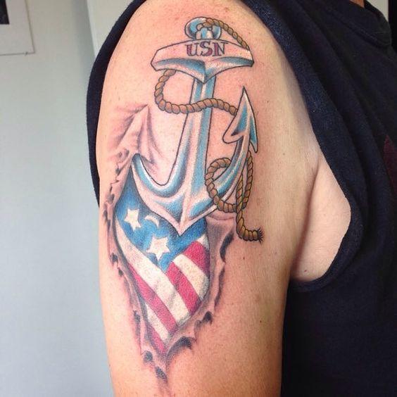 us navy anchor tattoos