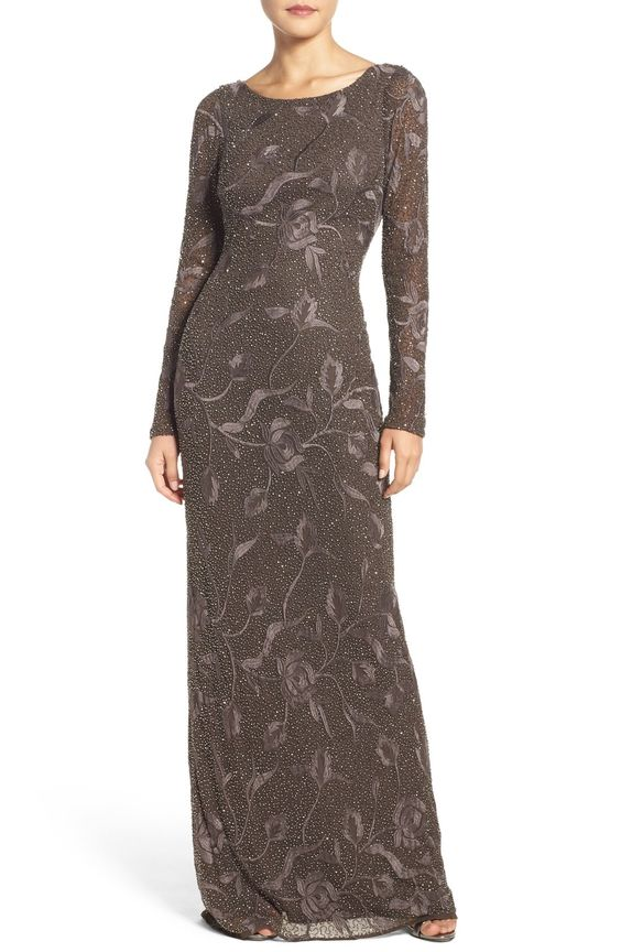 Aidan Mattox Embroidered Beaded Gown available at #Nordstrom