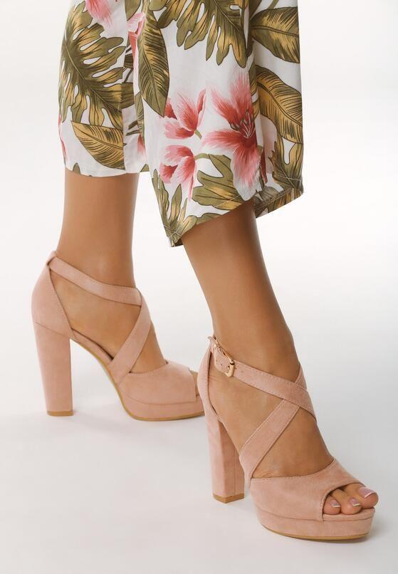 Rozowe Sandaly No Longer Fashion Heels Shoes
