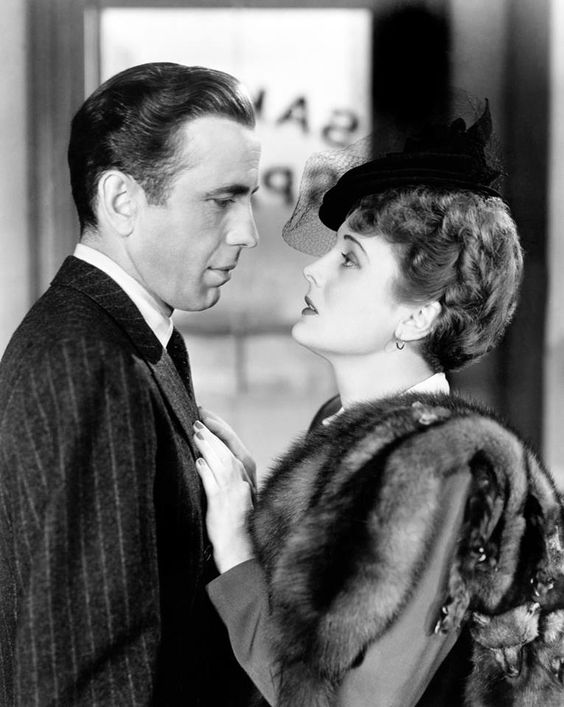 Humphrey Bogart as Sam Spade and Mary Astor in The Maltese Falcon (John Huston…: