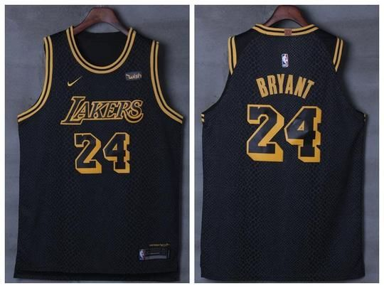 Men 24 Kobe Bryant Jersey City Edition Black Los Angeles Lakers Jersey Player Jersey Lakers Kobe Bryant