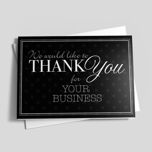 Professional Thank You Borders Business Thank You Cards Thank You Cards Sympathy Thank You Cards