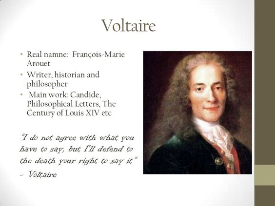Who was voltaire? What did he do? What did he believe in?