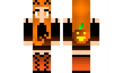 minecraft skin Halloween-Girl Check out our YouTube : https://www ...