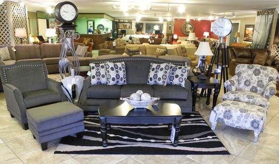 Gray Studded Couch With One Matching U0026 One Accent Chair U0026 Accent Pillows  And Rug. Classic Look! Find It At Ossian Furniture! | AT HOME | Pinterest |  Accent ...