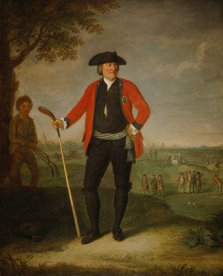 William Inglis, c 1712 - 1792. Surgeon and Captain of the Honourable Company of Edinburgh Golfers by  David Allan