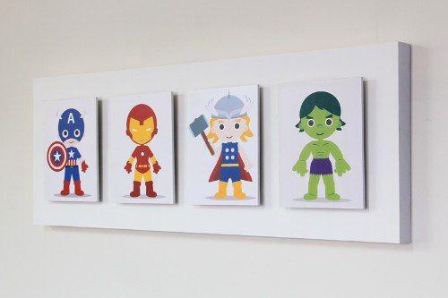 Avengers inspired illustration frame