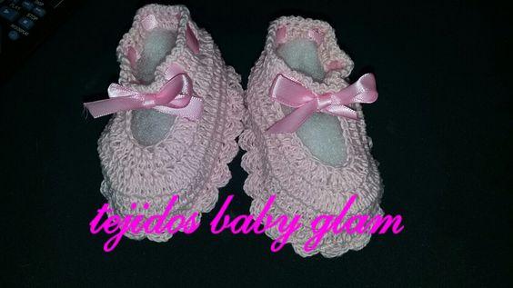 zapatitos para niña tejidos a crochet