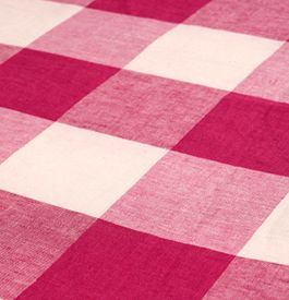 Linen buffalo check.  This fabric and many more fabrics, trims, and wallpapers are available for the guaranteed lowest price online at Designerfabricsusa.com