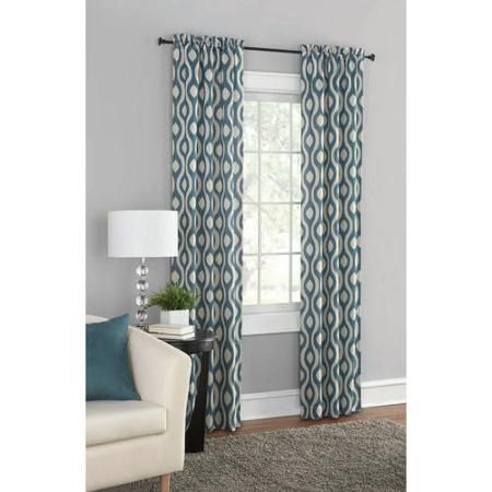 Curtains Ideas black out curtains walmart : Mainstays Blackout Print Woven Window Curtains, Set of 2 | Colors ...