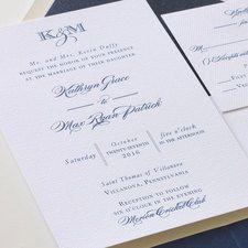 Kathryn Wedding Invitation with Belly Band