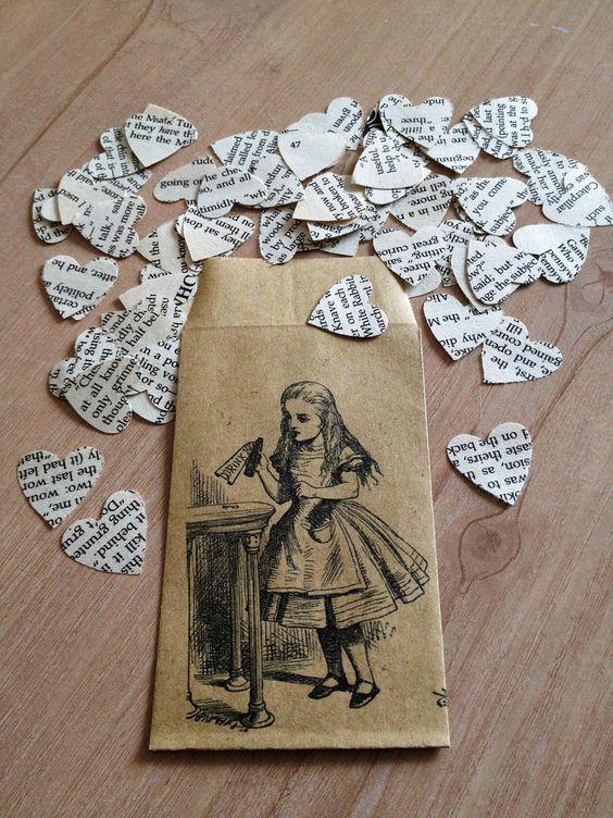 Alice in Wonderland Book Confetti for Vintage by LiteraryEmporium