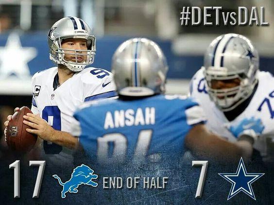 Detroit halftime  17-7