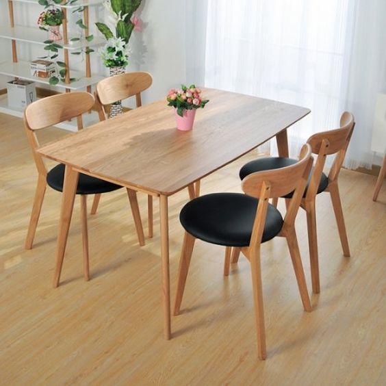 Set Kursi Makan Kayu Jati Minimalis Elegant Oslo Terbaru 2020