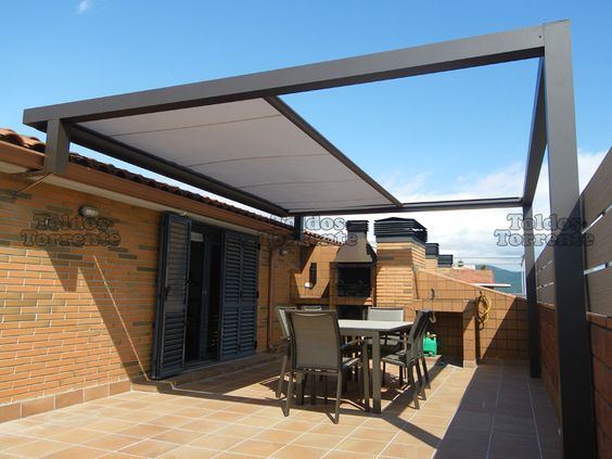 Verandas google and pergolas on pinterest - Toldos para terrazas ...