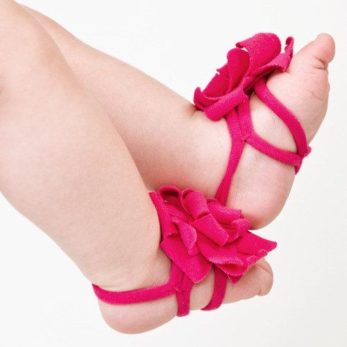 OOII DIY KIT Fuchsia baby barefoot sandals by ZUZII on Etsy, $10.00  Oh man if I had a girl!!!!!!